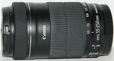 Canon EF-S 55-250mm f/4-5.6 IS STM lens in excellent condition