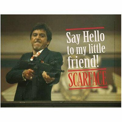 Scarface Say Hello Glass Poster