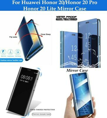 For Huawei Honor 20 Lite 20 Pro Flip Mirror Case Smart Mirror View Stand Cover