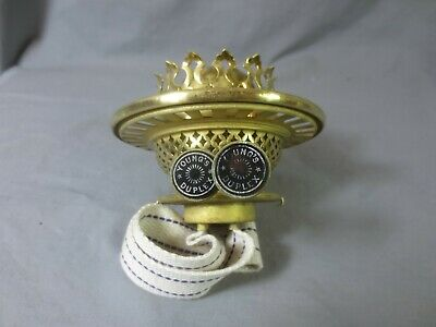 Superb Antique Victorian Brass Youngs  Duplex Oil Lamp Burner