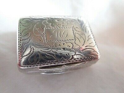c1833 ANTIQUE English Georgian Naive  THOMAS SHAW Silver VINAIGRETTE Birmingham
