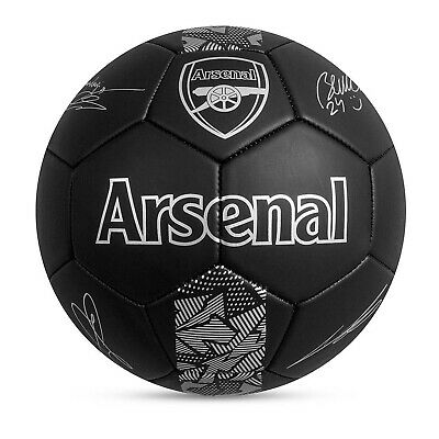 Arsenal FC Football Club Black Phantom Signature Size 5 Ball Team Merch