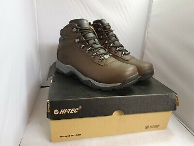 HI-TEC Eurotrek III Waterproof Walking Boots-Dark Chocolate Size UK10
