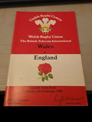 1983-Wales V England-Five Nations-International Rugby Union Programme