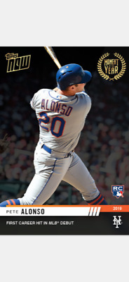 2019 TOPPS NOW MOMENT OF THE YEAR ROOKIE CARD METS PETE ALONSO #MOY-11 1st HIT