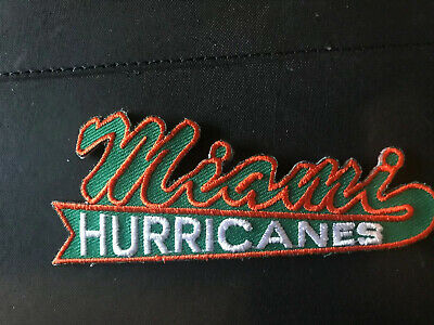 """University of Miami Hurricanes Shield Patch 3.25/"""" x 3.25/"""" Embroidered NEW *R6"""