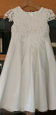 Lace Tiered Wedding Bridesmaid Flower Girl Occasion Dresses Ivory Age 2-9y FG310