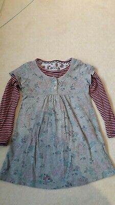 Fat Face Girls dress and under top set, age 4-5yrs