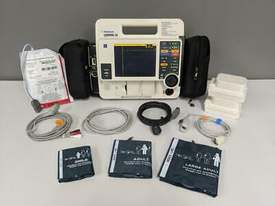 Physio LifePak 12 Biphasic 3 lead Masimo SpO2 NIBP AED Pacing with New Case