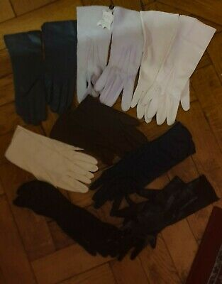 JOB LOT 1940s 50's VINTAGE GLOVES PAIRS-Leather-Fabric Vintage Gloves Unworn vgc