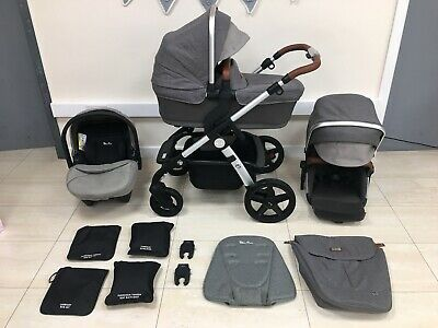Silver Cross Wave - Sable - Full Travel System Double Or Single