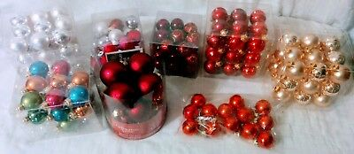 """171 Miniature Christmas Feather Tree Ball Ornaments 1""""-1.75"""" Tall, Mixed Colors"""