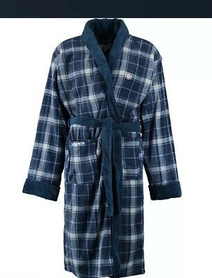 vintage dressing gown smoking jacket  Robe  kimono XXL XL  Plaid Lambretta New