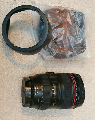 Canon - 24-105mm f/4.0 L IS USM Lens - EF Mount - With Lens Hood and lens bag