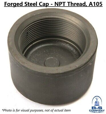 "Forged Steel CAP 6"" NPT Threaded A105 3000# 3M"