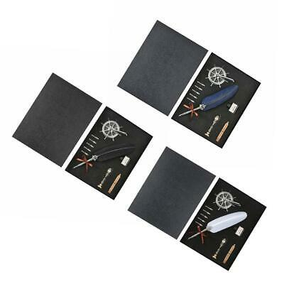 Retro Calligraphy Quill Feather Dip Pen Writing Ink Set Fountain Pens F07#