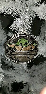 Baby YODA Ornament Embroidered 2019 Star Wars Art Baby Yoda from Mandalorian
