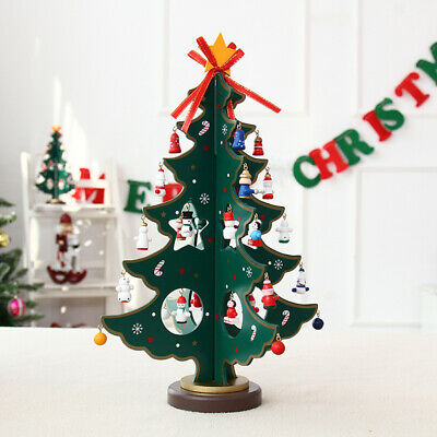 """MINIATURE ARTIFICIAL 18/"""" CHRISTMAS TREE WITH WOODEN BASE #910097948"""