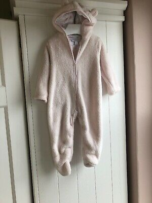The Little White Company 12-18 Months Pink Girls Snuggle Pram Suit All In One