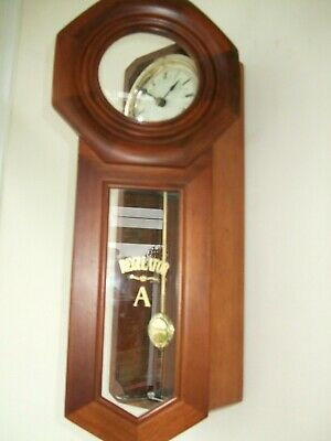 Nice 31 day fully working Regulator A wall clock with octagonal shape face & Key
