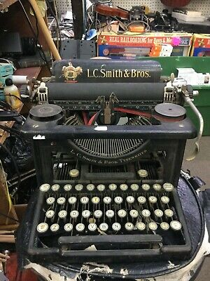 Antique L.C. Smith & Bros. Typewriter - Early 1900's