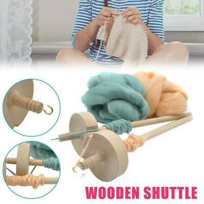 Beginners Drop Spindle Top Whorl Yarn Spin Hand Carved Gifts Wooden Tools A8P6