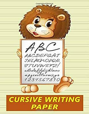 Cursive Writing Paper: Handwriting Practice Workbook for Kids - Lion (Blank Curs