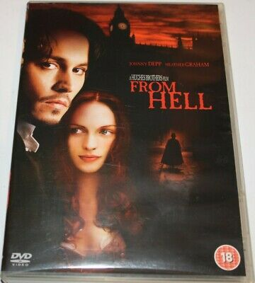 From Hell (DVD, 2003) Depp, Graham - Rated 18, Region 2, PAL.