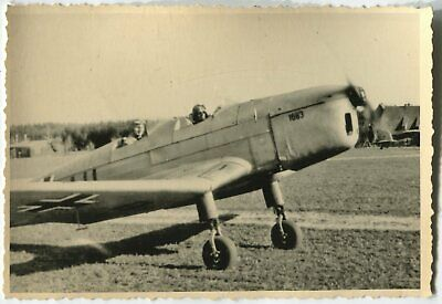 German Wwii Archive Photo: Luftwaffe Klemm Kl 35 Aircraft At Airfield