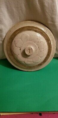 Antique Vintage Red Wing 1 Gallon Stoneware Petal Crock Lid with Knob Top