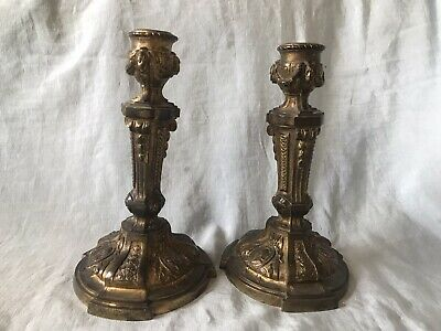 Pair Of 18th/19th Century Antique French Ormolu Candlesticks
