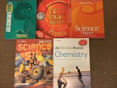 VGC x 5 SCIENCE books GCSE CHEMISTRY in a week PHYSICS exam secrets REVISION