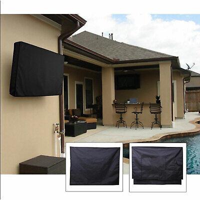 30-58 Inch Dustproof Waterproof TV Cover Outdoor Patio Flat Television D5X3A