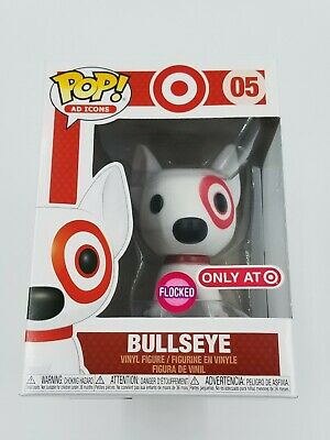 🎯 Funko POP! Ad Icons Target Flocked Bullseye with Red Collar #05  (0854) 🎯