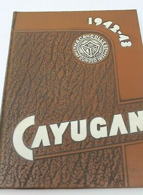 1943 Ithaca College New York Cayugan Vintage Annual Yearbook