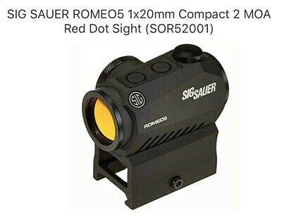 SIG SAUER ROMEO5 1x20mm Compact 2 MOA Red Dot Sight (SOR52001)