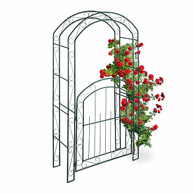 Rose arch with Gate 120853 metal Iron 265x190 cm Growth support