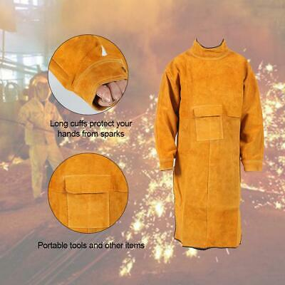 Apron Spark-proof Welding Apron Cowhide Welder Double-sided Wearable Insulation
