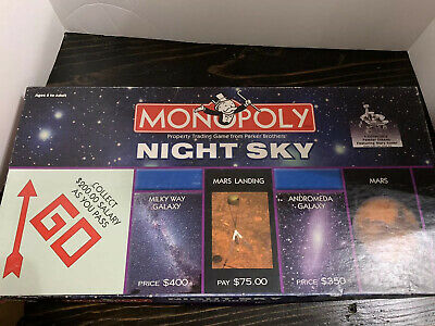Monopoly NIGHT SKY Edition Board Game - Hasbro - 2004 - Missing 1 Small House
