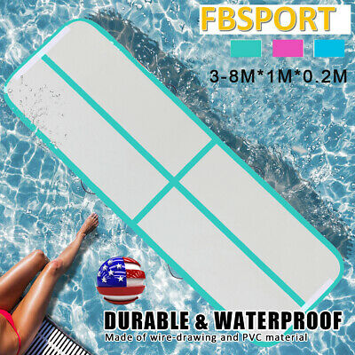 10FT 13Ft Airtrack Inflatable Air Track Floor Gymnastics Tumbling Mat GYM + Pump