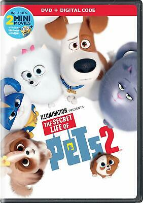 NEW!!! The Secret Life of Pets 2 (DVD + Digital Code, 2019) Slipcover Included!!