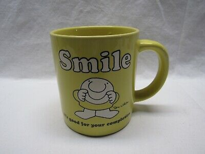 "Ziggy ""Smile.. It's Good For Your Complexion"" Stoneware Mug Cup 1980"