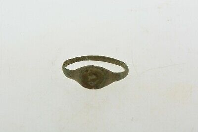 Antique Roman Byzantine Medieval bronze ring 100-1200 AD #5 Size 5