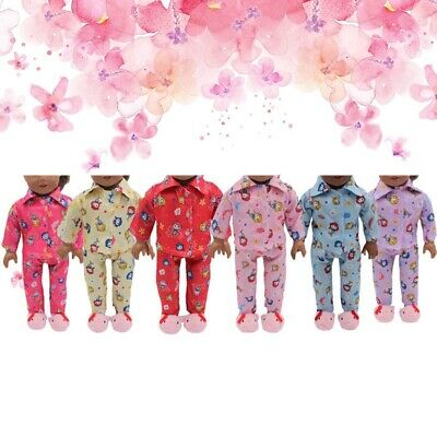 18 inch Girls Doll Clothes Pajamas Multi color Pajamas For Children UK lskn Shns