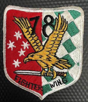 Extremely Rare 1960's RAAF 78 Fighter Wing Patch. RARE - Made In Japan