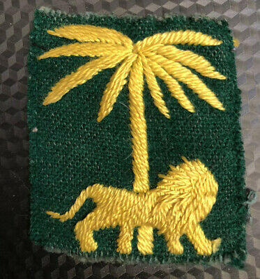 Rare 1960's Australian Army Patch. Singapore District - Locally Made
