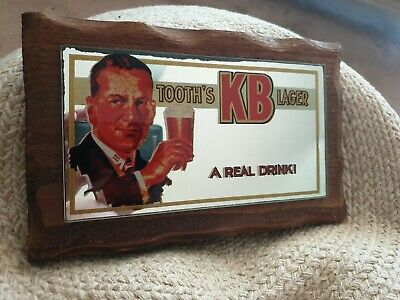 Tooth's KB Lager Advertising Pub Mirror in Oak Frame