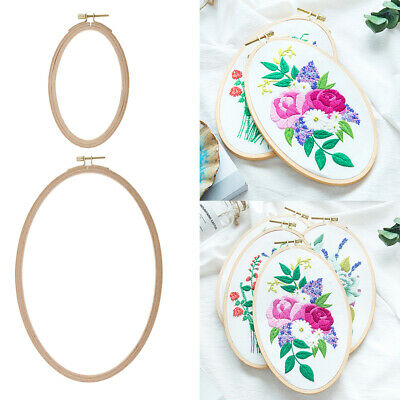 Mini Wooden Nice Frame Embroidery Hoop Hand Cross Stitching Sizes Craft DIY Z0S5