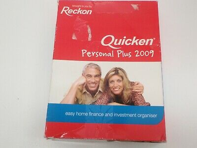Reckon Quicken Personal Plus 2009 Software Accounting Single User Full Version