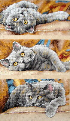 Dimensions Gold Counted Cross Stitch Unframed Tapestry Picture Max The Cat